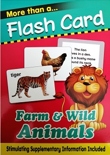 flash cards farm and wild animal 1