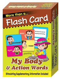 flash cards my body and action words