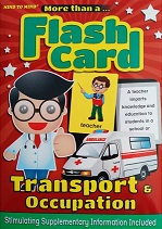 flash cards transport and occupation
